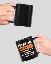 Pastor warning anything you say or do mug Mug ceramic-mug-lifestyle-42