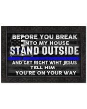 """Police Before you break into my house doormat Doormat 22.5"""" x 15""""  front"""
