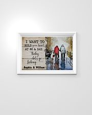 Fishing I want to hold your hand at 80 poster 24x16 Poster poster-landscape-24x16-lifestyle-02
