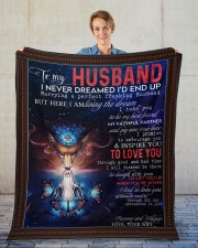 """Wolf to my husband I never dreamed end up blanket Fleece Blanket - 50"""" x 60"""" aos-coral-fleece-blanket-50x60-lifestyle-front-01"""
