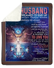 """Wolf to my husband I never dreamed end up blanket Sherpa Fleece Blanket - 50"""" x 60"""" thumbnail"""