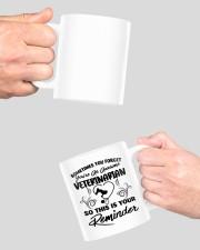 Sometimes you forget an awesome veterinarian mug Mug ceramic-mug-lifestyle-42