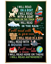 I will read on the boat with the goat poster 11x17 Poster front