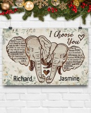 Elephant I choose you custom personali name poster 24x16 Poster aos-poster-landscape-24x16-lifestyle-29