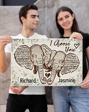Elephant I choose you custom personali name poster 24x16 Poster poster-landscape-24x16-lifestyle-21