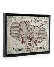 Elephant I choose you custom personali name poster 14x11 Black Floating Framed Canvas Prints thumbnail