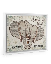 Elephant I choose you custom personali name poster 14x11 White Floating Framed Canvas Prints thumbnail