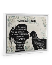 You are not just a Newfoundland poster Floating Framed Canvas Prints White tile