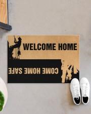"""Arborist Welcome home come home safe doormat Doormat 22.5"""" x 15""""  aos-doormat-22-5x15-lifestyle-front-07"""