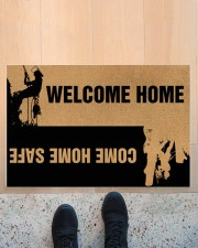 """Arborist Welcome home come home safe doormat Doormat 22.5"""" x 15""""  aos-doormat-22-5x15-lifestyle-front-10"""