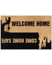 """Arborist Welcome home come home safe doormat Doormat 22.5"""" x 15""""  front"""