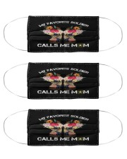 My favorite soldier calls me mom face mask Cloth Face Mask - 3 Pack front