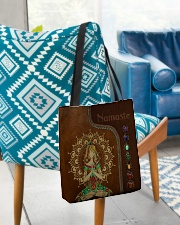 Yoga hippie girl namaste tote bag All-over Tote aos-all-over-tote-lifestyle-front-01