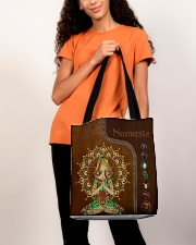 Yoga hippie girl namaste tote bag All-over Tote aos-all-over-tote-lifestyle-front-06