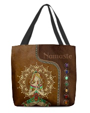 Yoga hippie girl namaste tote bag All-over Tote back