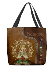 Yoga hippie girl namaste tote bag All-over Tote front