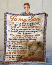"Lion To my son my little boy yesterday blanket Fleece Blanket - 50"" x 60"" aos-coral-fleece-blanket-50x60-lifestyle-front-01"