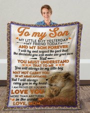 "Lion To my son my little boy yesterday blanket Fleece Blanket - 50"" x 60"" aos-coral-fleece-blanket-50x60-lifestyle-front-01c"