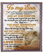"Lion To my son my little boy yesterday blanket Fleece Blanket - 50"" x 60"" front"