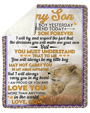 "Lion To my son my little boy yesterday blanket Sherpa Fleece Blanket - 50"" x 60"" thumbnail"