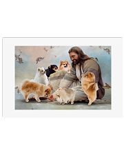 God surrounded by Pomeranian angels Gift for u Poster 24x16 Poster front