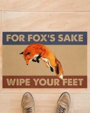 """Fox fox's sake wipe your feet doormat Doormat 22.5"""" x 15""""  aos-doormat-22-5x15-lifestyle-front-02"""