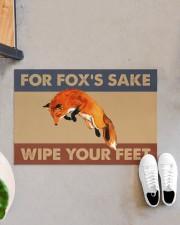 """Fox fox's sake wipe your feet doormat Doormat 22.5"""" x 15""""  aos-doormat-22-5x15-lifestyle-front-07"""