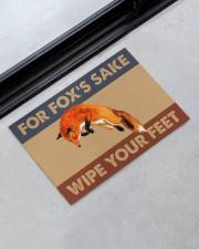 """Fox fox's sake wipe your feet doormat Doormat 22.5"""" x 15""""  aos-doormat-22-5x15-lifestyle-front-09"""