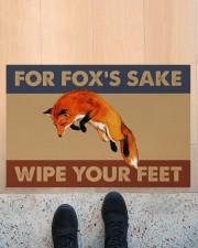 """Fox fox's sake wipe your feet doormat Doormat 22.5"""" x 15""""  aos-doormat-22-5x15-lifestyle-front-10"""