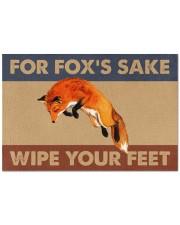 """Fox fox's sake wipe your feet doormat Doormat 22.5"""" x 15""""  front"""