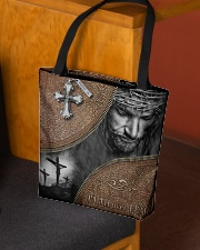 Jesus faith over fear tote bag All-over Tote aos-all-over-tote-lifestyle-front-02