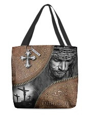 Jesus faith over fear tote bag All-over Tote front