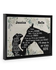 You are not just a horse poster Floating Framed Canvas Prints Black tile