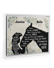 You are not just a horse poster Floating Framed Canvas Prints White tile