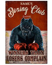 Boxing club winners train losers complain poster 11x17 Poster front