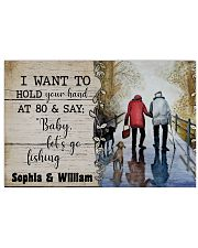 I want to hold your hand at 80 and say baby poster Horizontal Poster tile