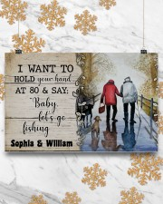 I want to hold your hand at 80 and say baby poster 17x11 Poster aos-poster-landscape-17x11-lifestyle-30