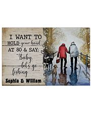 I want to hold your hand at 80 and say baby poster 17x11 Poster front