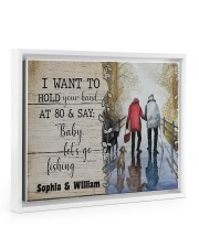 I want to hold your hand at 80 and say baby poster 14x11 White Floating Framed Canvas Prints thumbnail