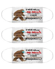 Bigfoot I will wear my mask here or there Cloth Face Mask - 3 Pack front