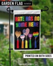 """Hate has no home here flag 11.5""""x17.5"""" Garden Flag aos-garden-flag-11-5-x-17-5-lifestyle-front-13"""