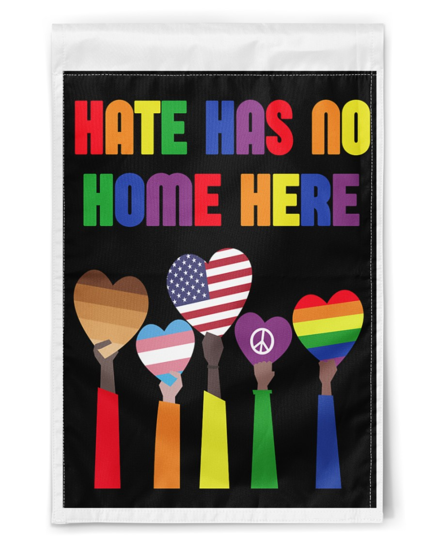 """Hate has no home here flag 11.5""""x17.5"""" Garden Flag"""