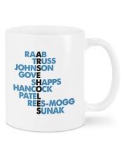 Raab truss johnson gove shapps hancock patel mug Mug front