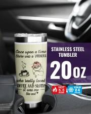 A woman who really loved coffe and sloths tumbler 20oz Tumbler aos-20oz-tumbler-lifestyle-front-39