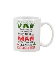 Christmas Dad thank you for teaching me mug Mug front