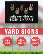 Unity over division Biden and harris  18x12 Yard Sign aos-yard-sign-18x12-lifestyle-front-30