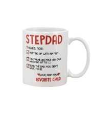Stepdad thanks for putting up with my mom mug Mug front