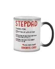 Stepdad thanks for putting up with my mom mug Color Changing Mug thumbnail
