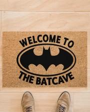 """Welcome to the batcave doormat Doormat 22.5"""" x 15""""  aos-doormat-22-5x15-lifestyle-front-02"""