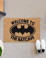 """Welcome to the batcave doormat Doormat 22.5"""" x 15""""  aos-doormat-22-5x15-lifestyle-front-07"""